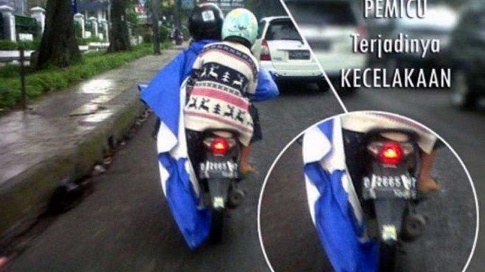 Jas Hujan Ponco Kurang Diminati di Bandung, Setelah Viral di Medsos Pemotor Berponco Jatuh di Jalan