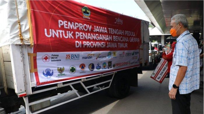 Setelah NTT, Gubernur Ganjar Pranowo Kirim Bantuan dan Relawan ke Jawa Timur