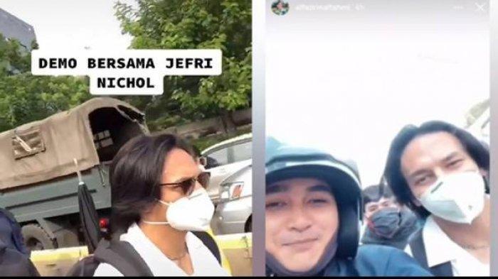 Jefri Nichol menjadi satu di antara beberapa artis yang ikut dalam aksi turun ke jalan menolak Omnibus Law UU Cipta Kerja yang disahkan DPR dalam Rapat Paripurna.