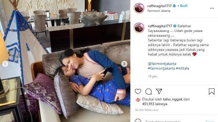 jelang lahiran anak kedua, Nagita Slavina beri pesan khusus ke Rafathar