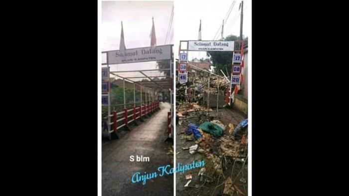 Ngeri! Beredar Foto Jembatan Anjun Majalengka Rusak Diterjang Banjir, Sebelumnya Tampak Cantik
