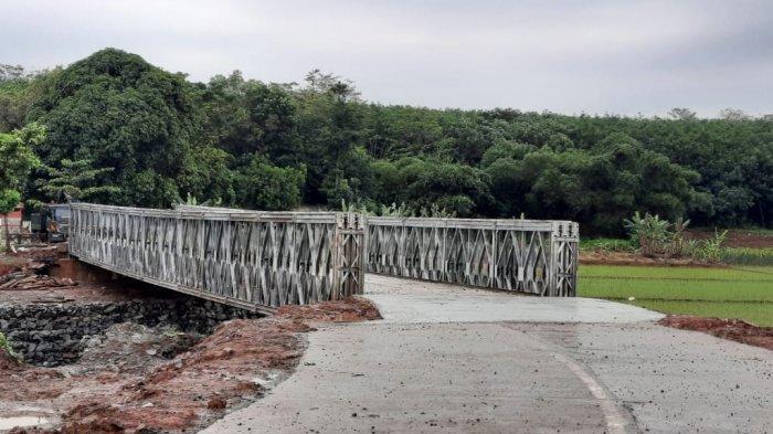 Jembatan Bodem di Purwakarta yang Ambruk Tahun Lalu Bakal Diresmikan Minggu Depan
