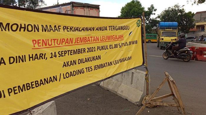 Jembatan Leuwigajah Cimahi Akan Ditutup Sementara Besok. Ini Penyebabnya
