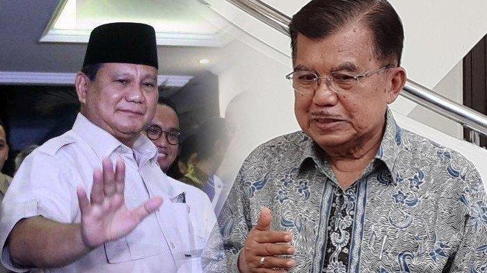 Ditanya Apakah Prabowo Cocok jadi Menteri Jokowi atau Tidak, Jawaban Jusuf Kalla Langsung Bikin Riuh