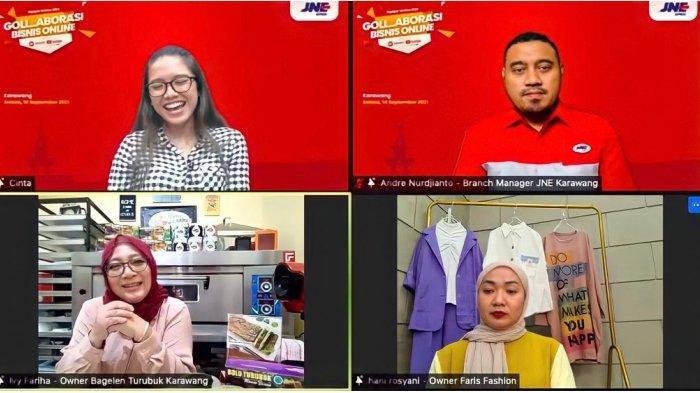 Tingkatkan Kapasitas UKM Masuk Pasar Digital, JNE Karawang Hadirkan Gollaborasi Bisnis Online