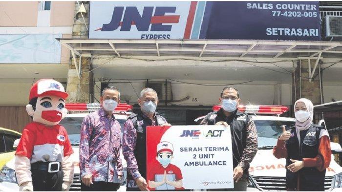 JNE Bandung & ACT Hadirkan  2 Unit Ambulance Untuk Kemanusiaan
