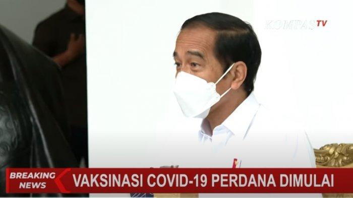 Presiden Jokowi telah menjadi orang pertama di Indonesia yang disuntik vaksin Covid-19, Sinovac di Istana Kepresidenan, Rabu (13/1/2021).