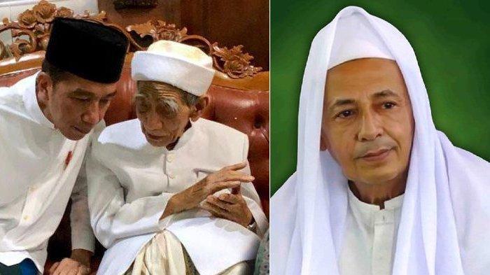 Jokowi Bertemu Mbah Moen & Habib Luthfi Sebelum Konser Putih Bersatu, Dia pun Diberi 2 Hadiah Ini