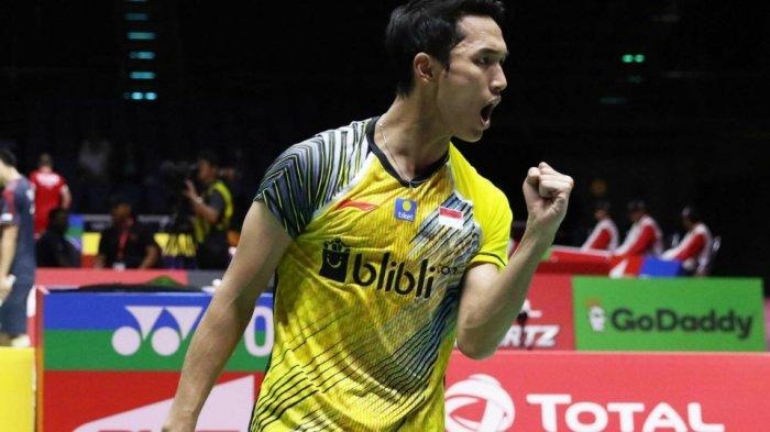 Jonatan Christie Kalah, Indonesia Tertinggal 2-1 dari China di Semifinal Piala Thomas