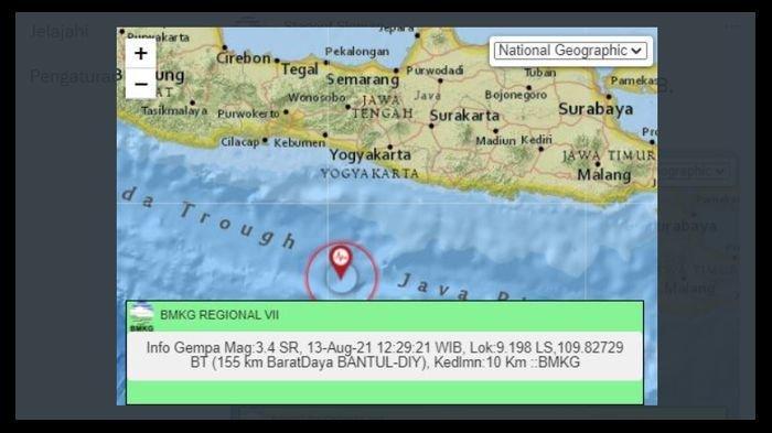 Bantul DI Yogyakarta Dilanda Gempa Siang Ini, BMKG Sebut Berpusat di Kedalaman 10 Km