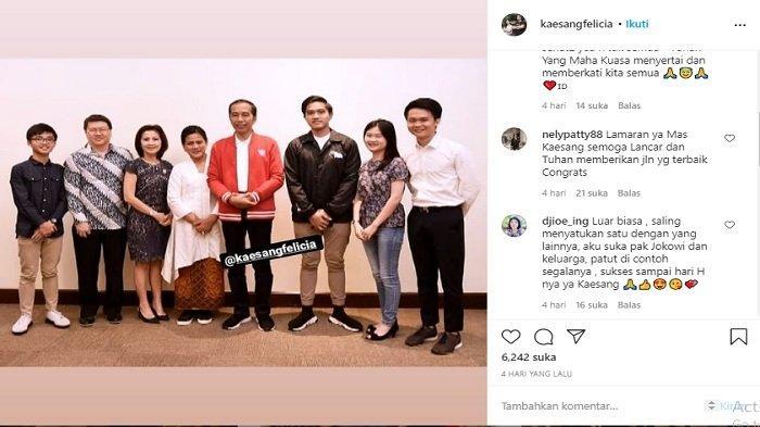 Iriana-Jokowi Bertemu Calon Besan, Sama-sama Pakai Baju Formal, Kaesang-Felicia Lamaran? Cek Fotonya
