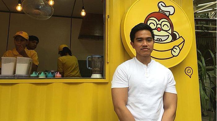 Kaesang Pangarep pemilik gerai Sang Pisang saat ditemui Tribun Jabar di cabang gerainya, Jalan Dipatiukur, Kota Bandung, Sabtu (26/1/2019).