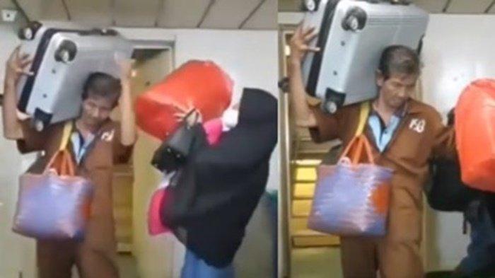 Seperti Ini Kejadian Sebenarnya Video Viral Kakek Kuli Panggul Bawa Banyak Barang Sekaligus