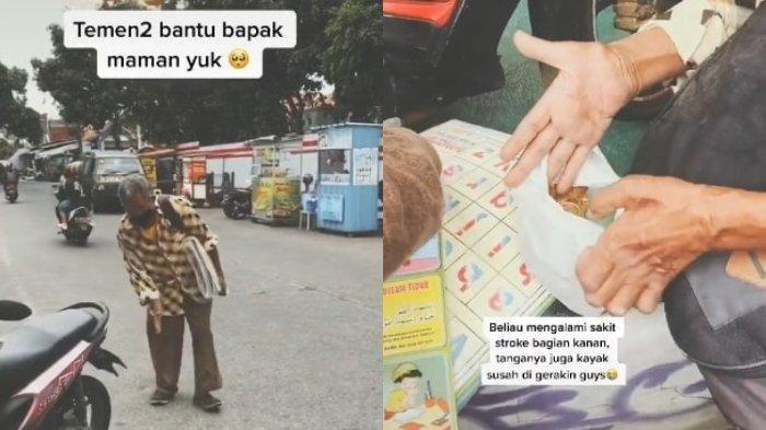 Viral di Medsos, Kakek Stroke Semangat Jualan Poster di Jalan Setiabudi, Tiap Hari Jalan Kaki