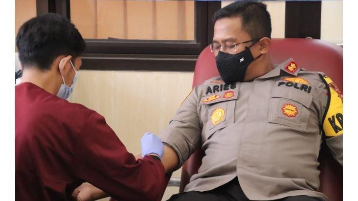 Peringati HUT ke-70 Polairud, Jajaran Sat Polair dan Polsek Polres Subang Lakukan Donor Darah