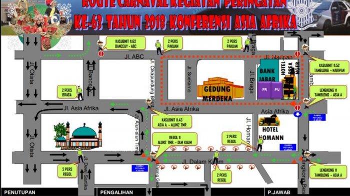 Di Bandung Besok Ada Karnaval KAA, Sejumlah Jalan Pun Ditutup, Ini Rute Pengalihannya