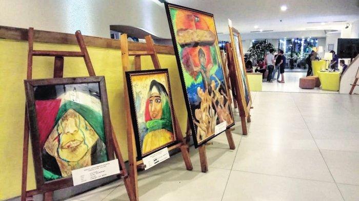 48 Lukisan Bertema Pray For Palestine dan Kehidupan Masyarakat Asia Afrika Dipamerkan di Sini