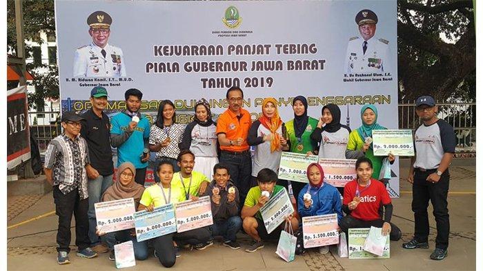 Tim Jawa Barat Raih Medali Emas pada Kejurnas Panjat Tebing Piala Gubernur Jabar