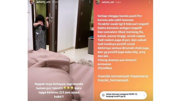 Postingan di Instagram Ashanty.