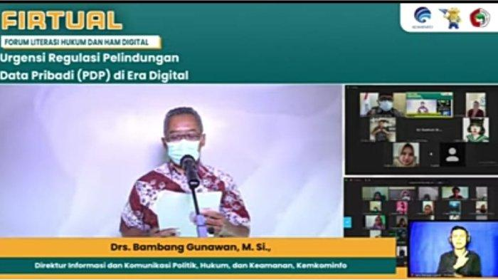 Zoom dan live youtobe FIRTUAL (Forum Literasi Hukum dan HAM Digital) yang diadakan oleh Kominfo RI, diikuti oleh 351 sivitas akademika dan 491 view pada live stream dikanal youtube. Kamis (9/9).