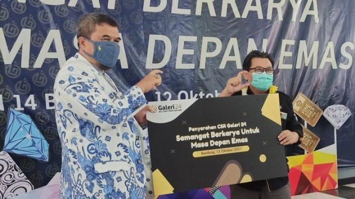 Galeri 24 Berikan CSR Alat Praktik Pengolah Perhiasan Emas kepada SMKN 14 Bandung
