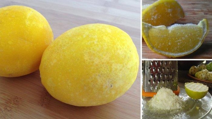 Jeruk lemon yang dibekukan ternyata memiliki segudang khasiat