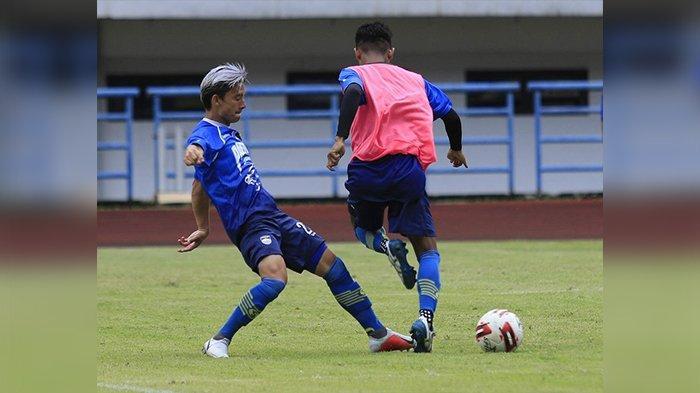 Kim Jeffrey Kurniawan dalam latihan Persib Bandung, Kamis (5/3/2020).