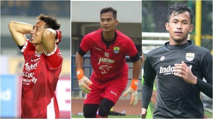 Kiper Persib Bandung, I Made Wirawan, Dhika Bayangkara, dan Aqil Savik