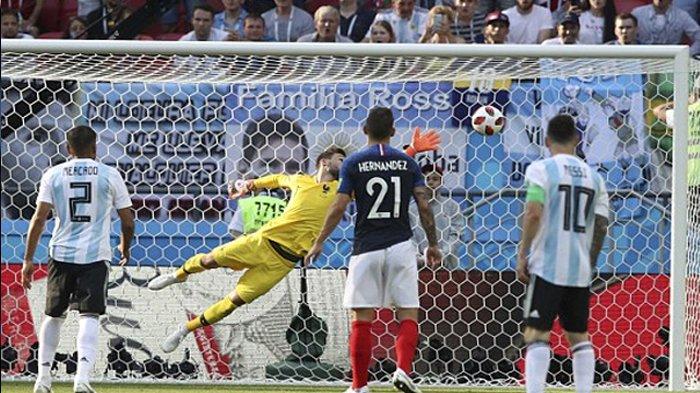 HT Argentina Vs Prancis 1-1, Gol Spektakuler Angel Di Maria Pupuk Asa Albiceleste ke 8 Besar