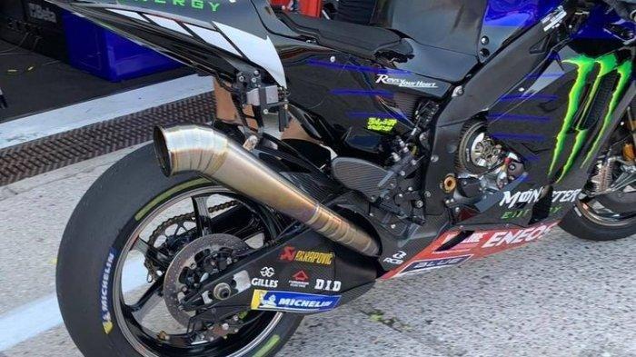 MODEL BARU - Knalpot model baru yang dipasang di motor yamaha M1 milik Valentino Rossi di MotoGP 2020