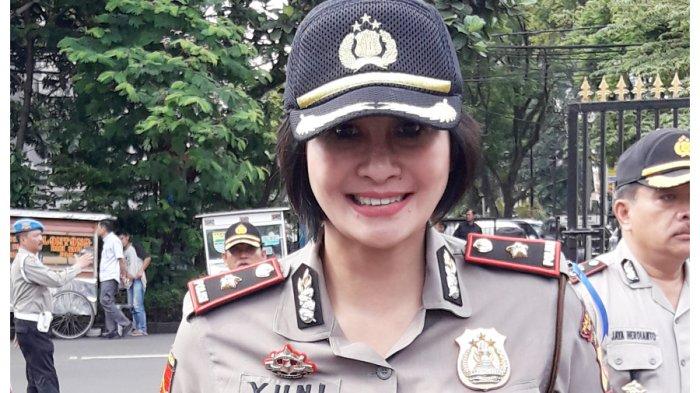 Kapolsek Astana Anyar, Kompol Yuni Purwanti Kusuma Dewi (Tribun Jabar/Daniel Andreand Damanik)