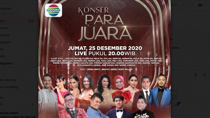 Indosiar Gelar Konser Para Juara Malam Ini, Mulai Pukul 20.00, Hadirkan Tamu dari D Academy dan LIDA