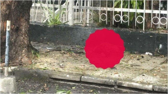 Bom bunuh diri di Gereja Katedral Makassar, berserakan potongan tubuh. (HANDOVER)