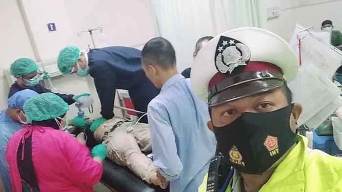 Korban seorang remaja putri sempat dibawa ke rumah sakit tapi akhirnya meninggal dunia