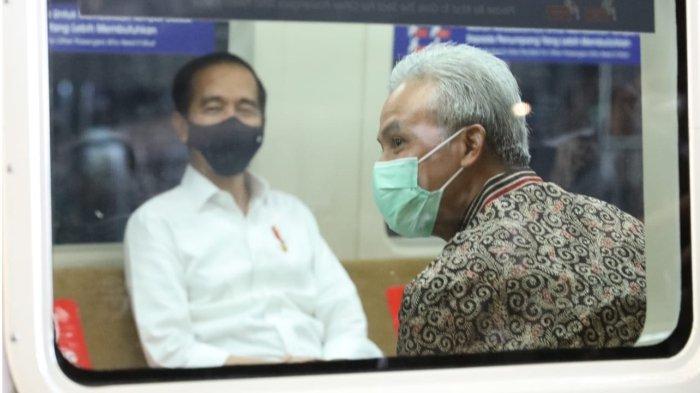 Ganjar Pranowo-Jokowi Jajal KRL Yogyakarta-Solo, Kesan Pertama Menyenangkan, Bersih Tak Berdesakan