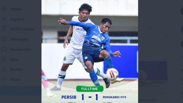 Persib Bandung vs Persikabo 1973 1-1, Bobotoh Kecewa LIVE GoPlay Ngelag