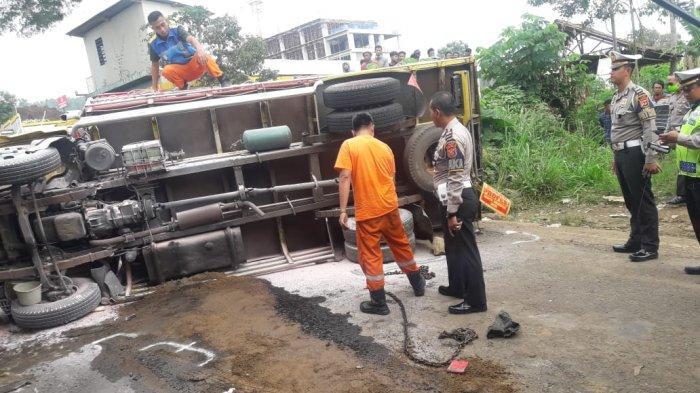 Tabrakan Maut di Ngamprah yang Libatkan Truk, Mobil dan Tiga Motor, Tewaskan 2 Orang dan 3 Luka-luka