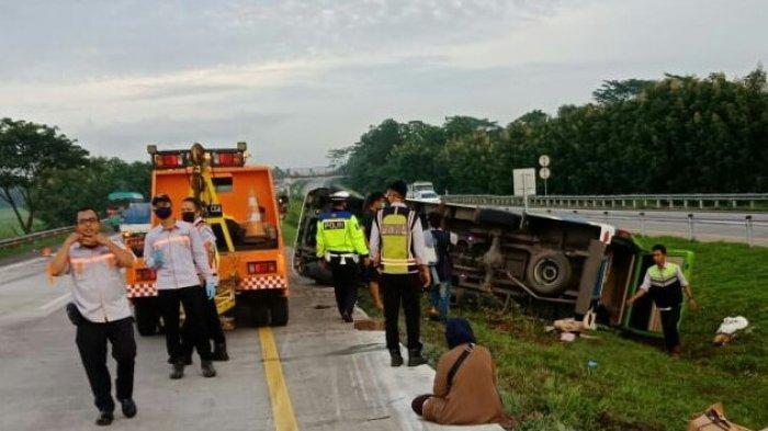 Kecelakaan Maut di Tol Cipali KM 107 Karena Sopir Mengantuk, Kecelakaan Tunggal 4 Tewas