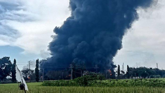 Ledakan dari Tangki T-3101G, Saat Kejadian Hujan dan Petir, 4 Warga yang Melintas Derita Luka Bakar