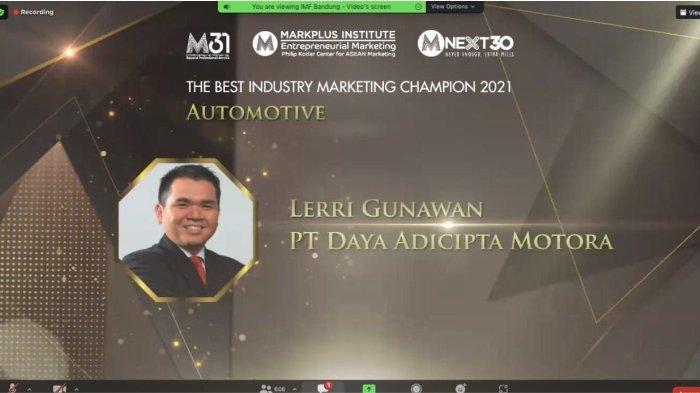 Lerri Gunawan Raih Penghargaan West Java Marketing Champion 2021