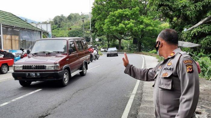 Libur Panjang Cuti Bersama, Volume Kendaraan di Jalur Gentong Meningkat, Polisi Berjaga-jaga