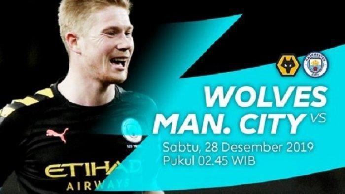 Jadwal Liga Inggris Wolves vs Manchester City, Pertandingan Dapat Ditonton di Live Streaming Mola TV