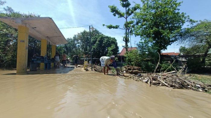 Tak Ada Hujan, Sejumlah Daerah di Indramayu Terendam Limpasan Sungai Cimanuk, Kiriman dari Sumedang