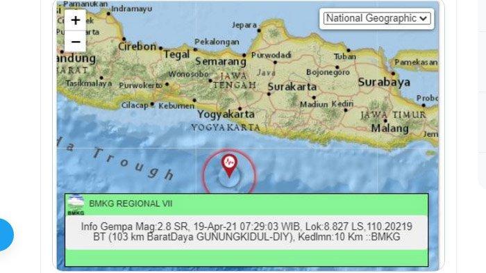 Pagi Ini Gempa Baru Saja Terjadi di Gunungkidul Yogyakarta, Berpusat di Laut Selatan, Ini Kata BMKG