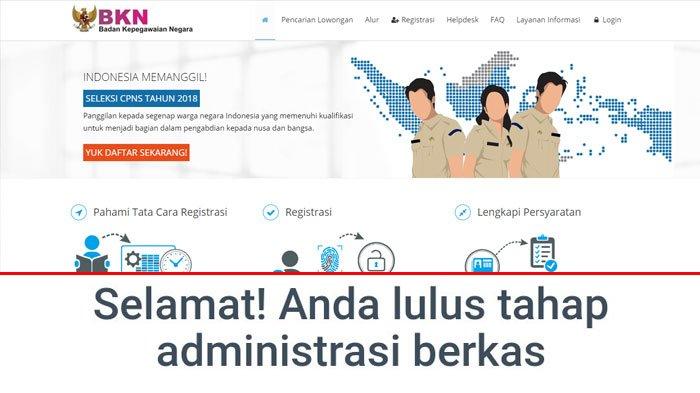 Link Download Pengumuman Seleksi Administrasi CPNS 2018 di 26 Instansi, Termasuk Pemkot Bandung