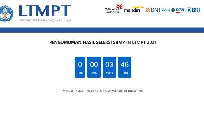 Cara Akses Link Pengumuman SBMPTN 2021, Bisa di Laman LTMPT atau Laman Mirror, Dibuka Sekarang