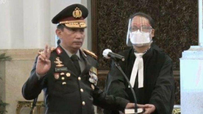 Sosok Kapolri baru, Listyo Sigit Prabowo yang menggantikan Idham Aziz.