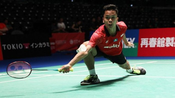 Sudah Dimulai Anthony Ginting vs Chen Long, Live Streaming TVRI Semifinal BWF World Tour Finals 2019