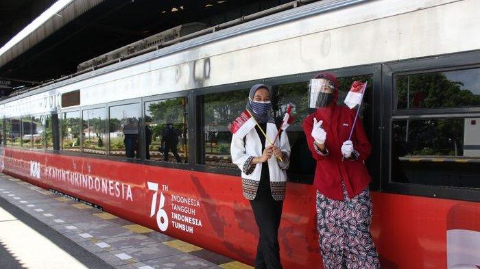 Semarakkan HUT RI, Daop 3 Cirebon Bikin Livery Khusus di KA, Ada Landmark Kota-kota di Indonesia