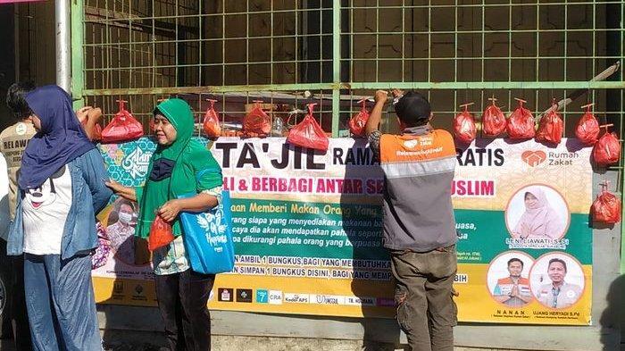 BEDA, Relawan di Cisolok Sukabumi Berbagi Takjil Pagi Hari, Tapi Bukan untuk Langsung Dimakan